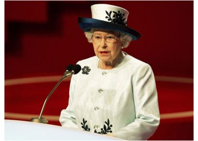 HM the Queen at the Opening Ceremony