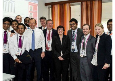 Accreditation team including Touchpoint's Chris and Erica with Former Aus. PM Tony Abbott