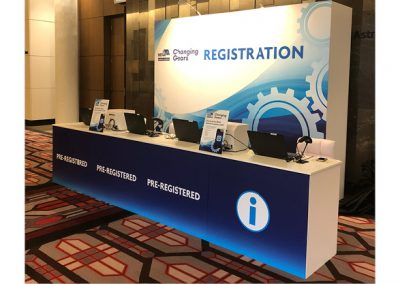 Registration Desk with Onsite Badge Printing