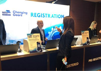 Chris registering a delegate